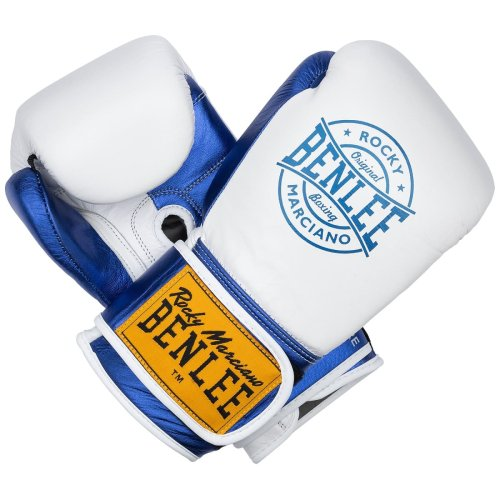 BENLEE Rocky Marciano Boxing Gloves Metalshire White/Blue