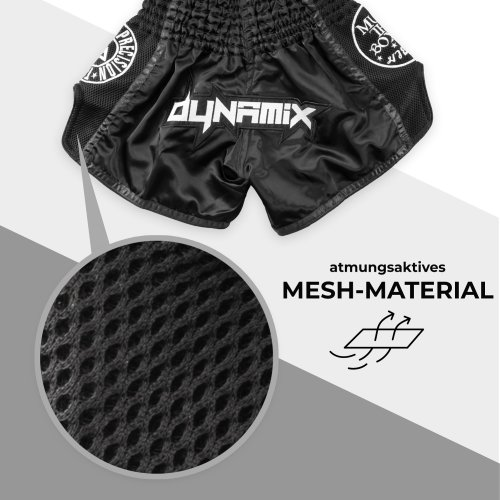 Dynamix Athletics Muay Thai Shorts Warpath Black