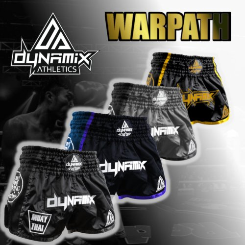 Dynamix Athletics Muay Thai Shorts Warpath Gold