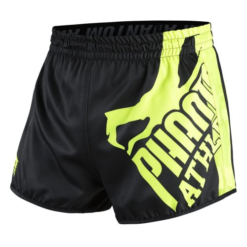 Phantom Athletics Fight Shorts Revolution - Black/Neon