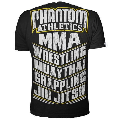 Phantom Athletics T-Shirt MMA Sports Schwarz