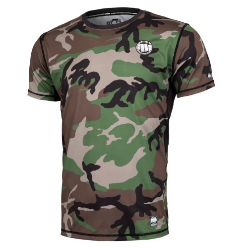 Pit Bull West Coast Training Shirt MESH - Woodland Camo
