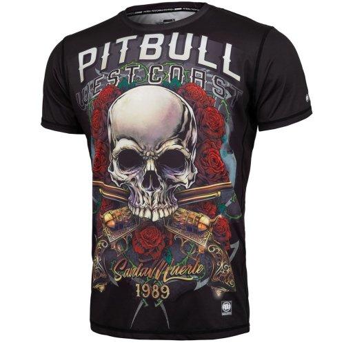 Pit Bull West Coast Rashguard MESH Master of Boxing Fitness Kompression Shirt