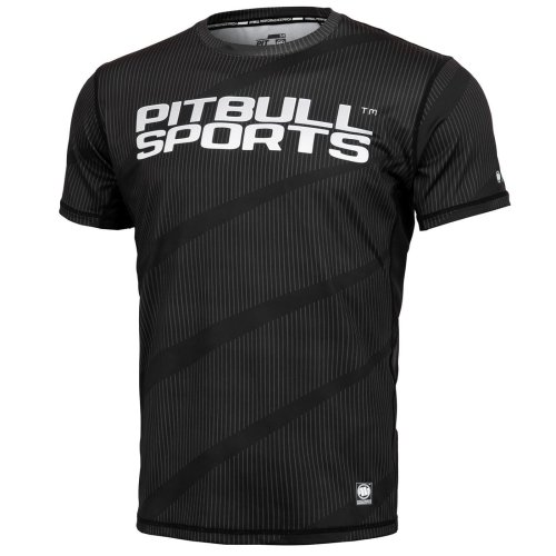 Pit Bull West Coast Training Shirt MESH Net Schwarz - PB Sports
