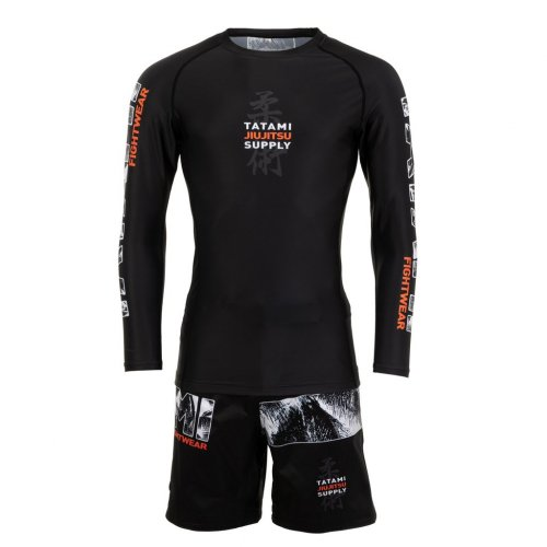 Tatami Fightwear Grappling Fight Shorts Tropic Schwarz