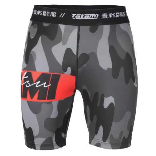 Tatami Fightwear Vale Tudo Shorts Red Bar Camo