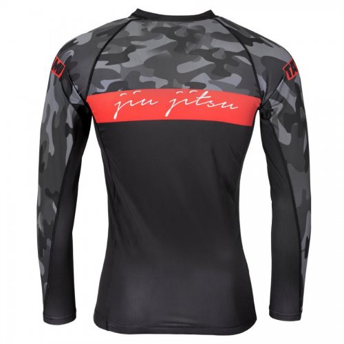 Tatami Fightwear Rashguard Red Bar Camo Langarm