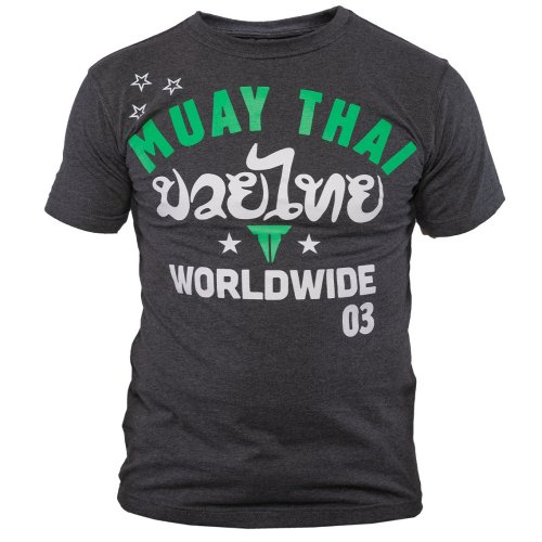 Throwdown Muay Thai T-Shirt Stripes - Charcoal