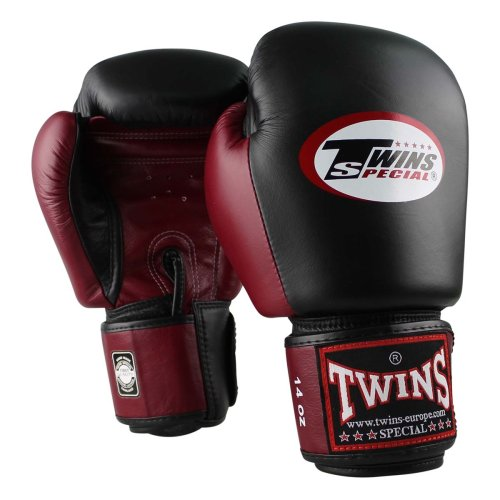 Twins Boxing Gloves BGVL 3 Black/Wine Red