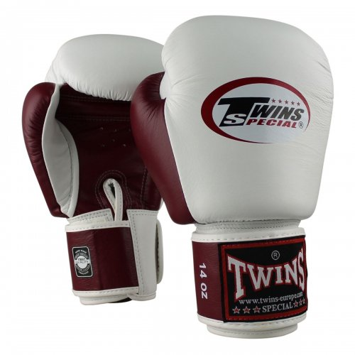 Twins Boxing Gloves BGVL 3 White/Wine Red