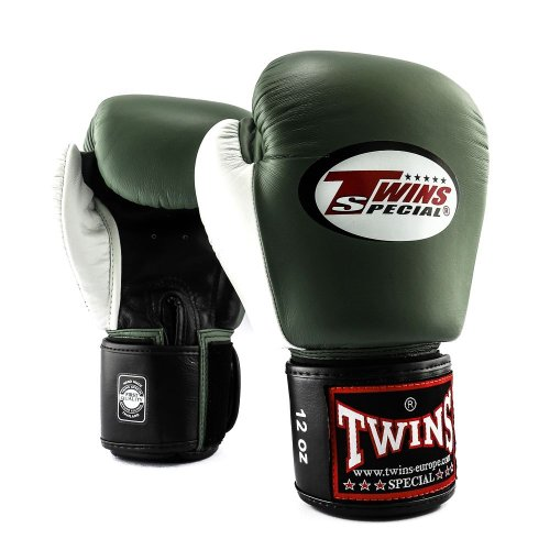 Twins Boxing Gloves BGVL 4 Olive/White