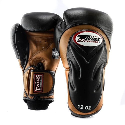 Twins Boxing Gloves BGVL 6 Black/Brown