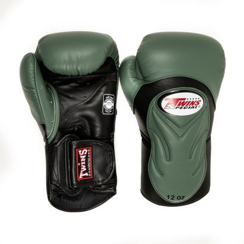 Twins Boxing Gloves BGVL 6 Black/Olive