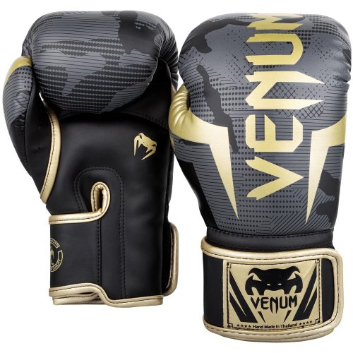 Venum Boxing Gloves Elite Gold Camo