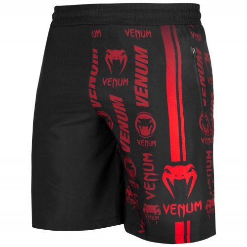 Venum Fitness Shorts Logos Black/Red