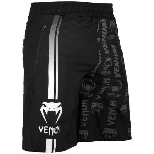 Venum Fitness Shorts Logos Black/White