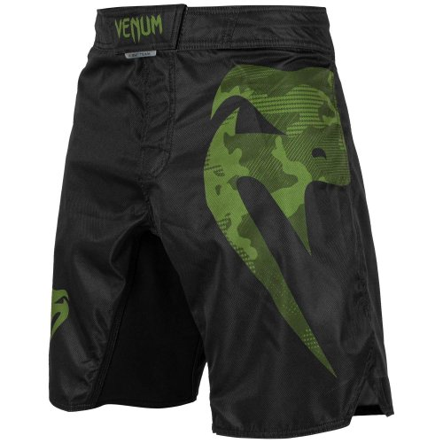 Venum MMA Fight Shorts Light 3.0 - Black/Green Camo
