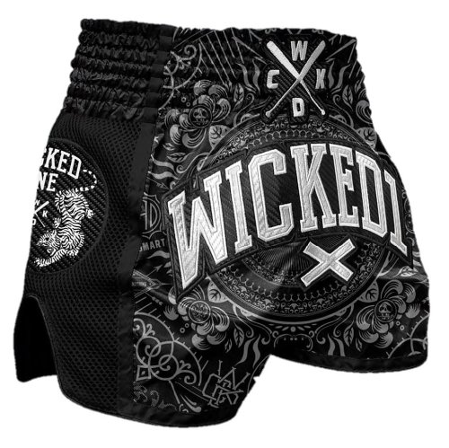 Wicked One Muay Thai Shorts Brain Schwarz
