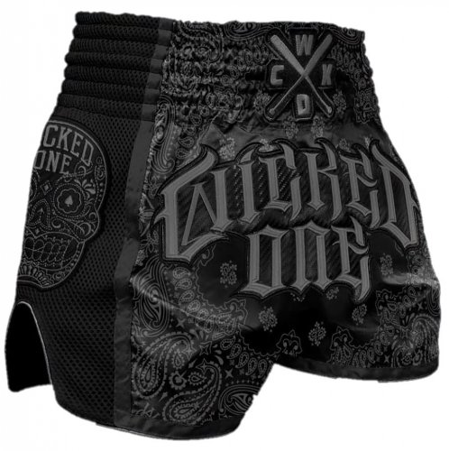 "Wicked One Muay Thai Shorts ""O.G"" Black/Grey"
