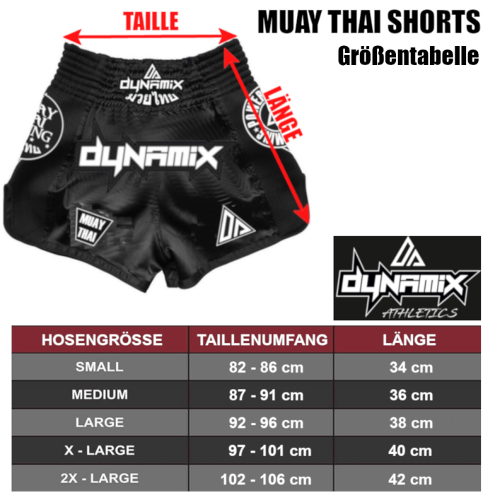 Dynamix Athletics Muay Thai Shorts Origin Navyblau/Weiß