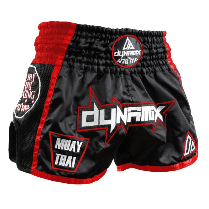 Dynamix Athletics Muay Thai Shorts Warpath Schwarz/Rot