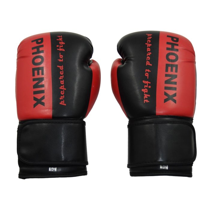 PX Boxing Gloves Prepared to Fight Black/Red
