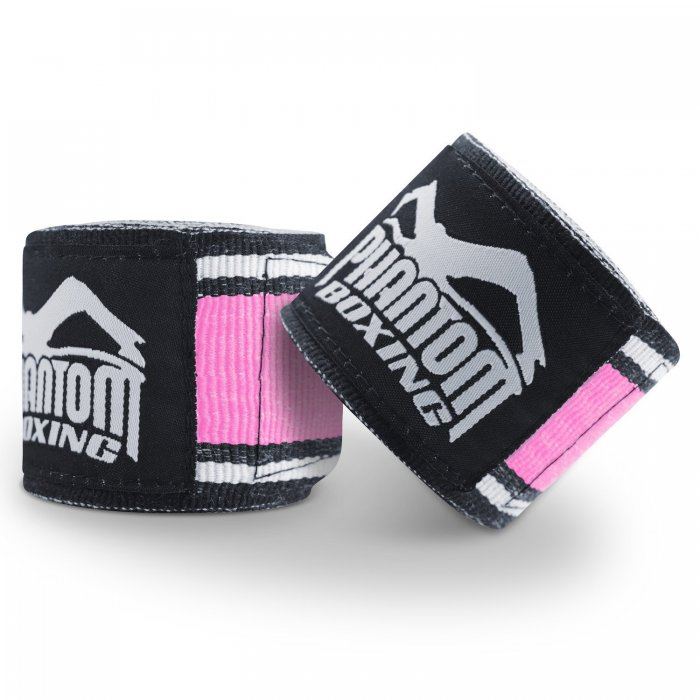 Phantom Athletics Boxbandagen MT-Pro Schwarz/Pink 4,50m