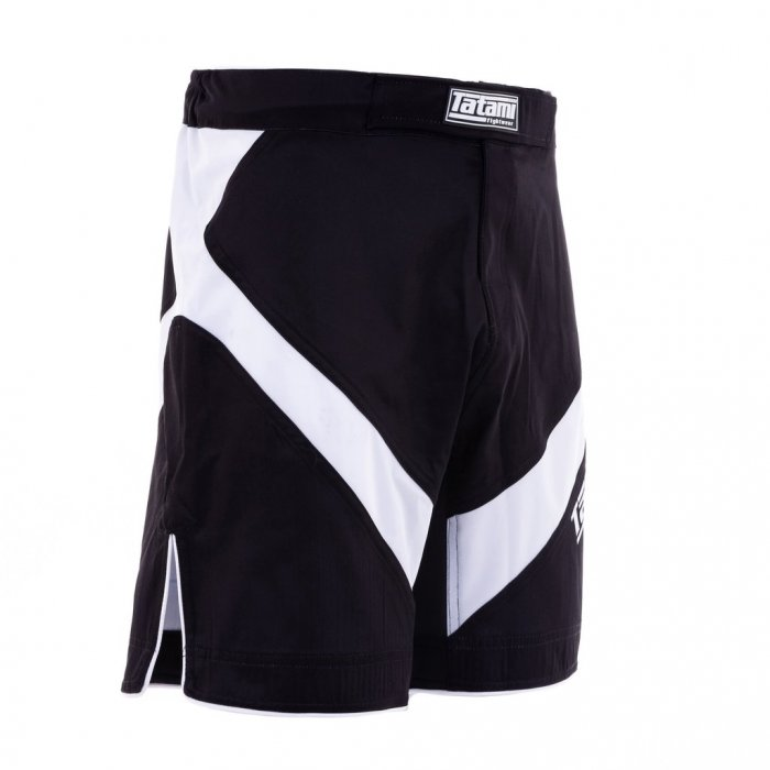 Tatami Fightwear Shorts Dynamic Fit IBJJF 2020 Schwarz/Weiß