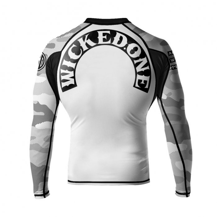 Wicked One Rashguard Rowdy Weiß