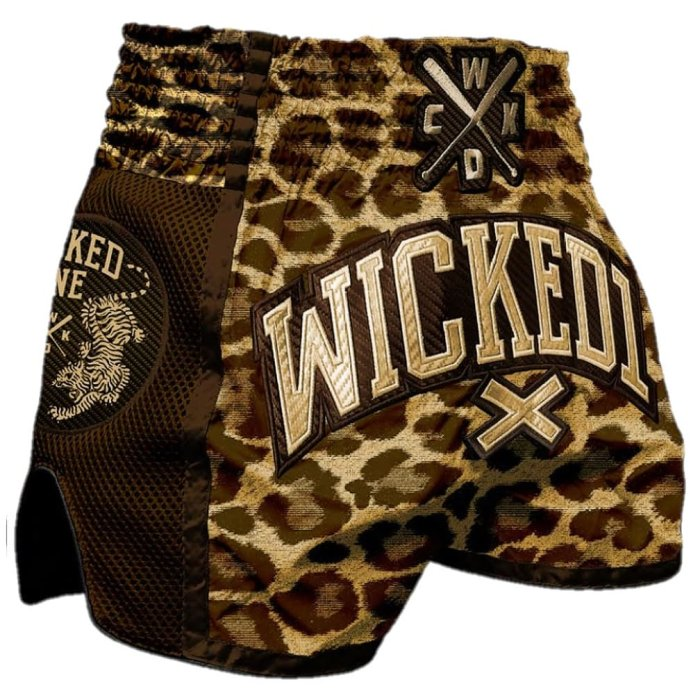 Wicked One Muay Thai Shorts Leopard