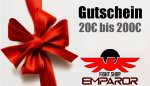 Gift Cards from 20 to 200 Euro